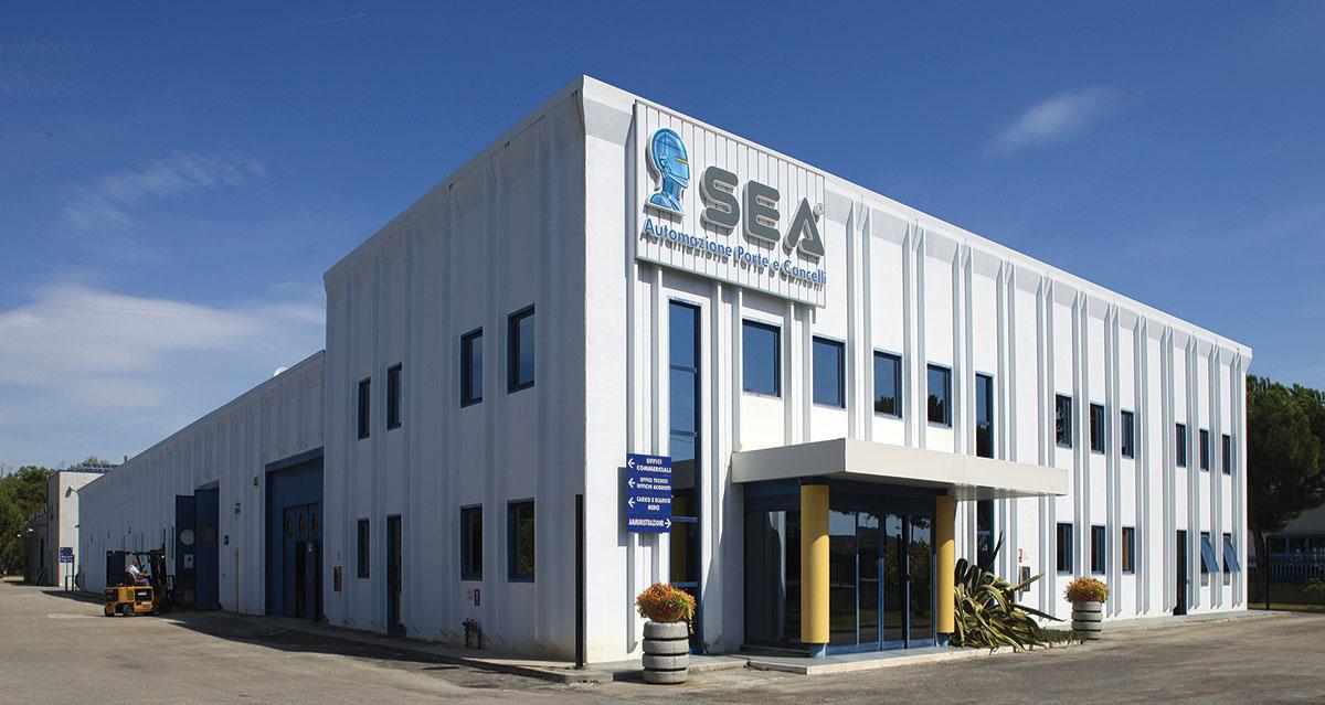 Завод SEA в Италии про производству автоматики для ворот