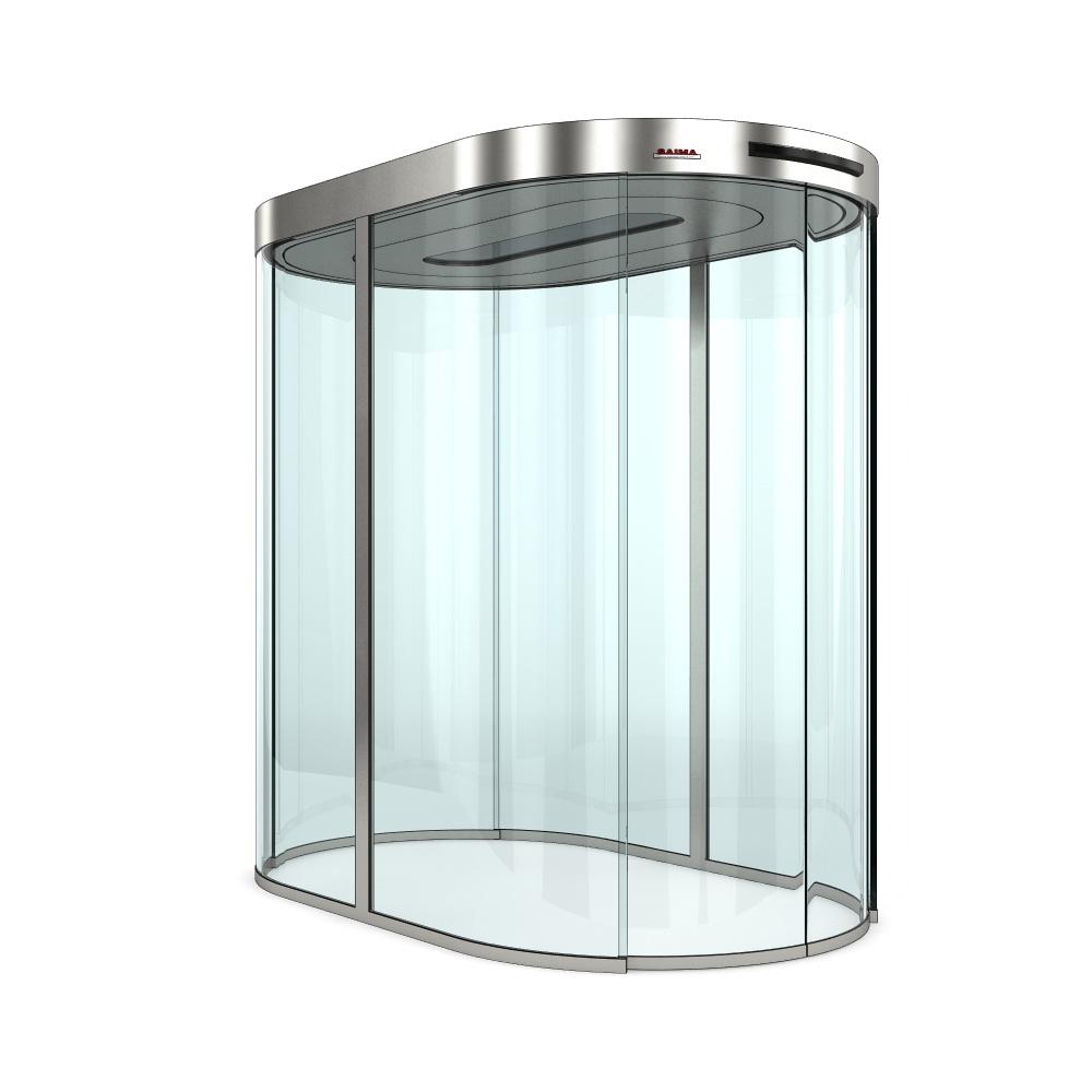 SAIMA Glass Door автоматическая шлюзовая стеклянная кабина овальной формы со сдвижными дверьми